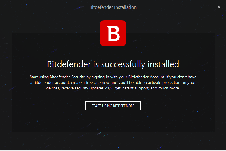 Uninstall New Bitdefender Total Security 2018