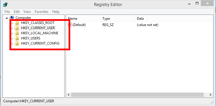 registry window