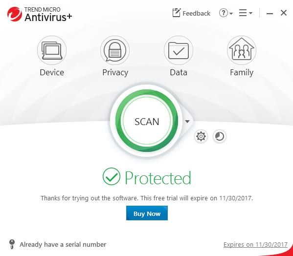 uninstall Trend Micro Antivirus+ Security