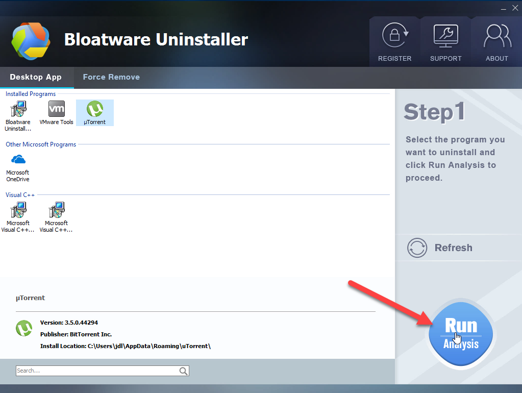 uninstall µTorrent with BU