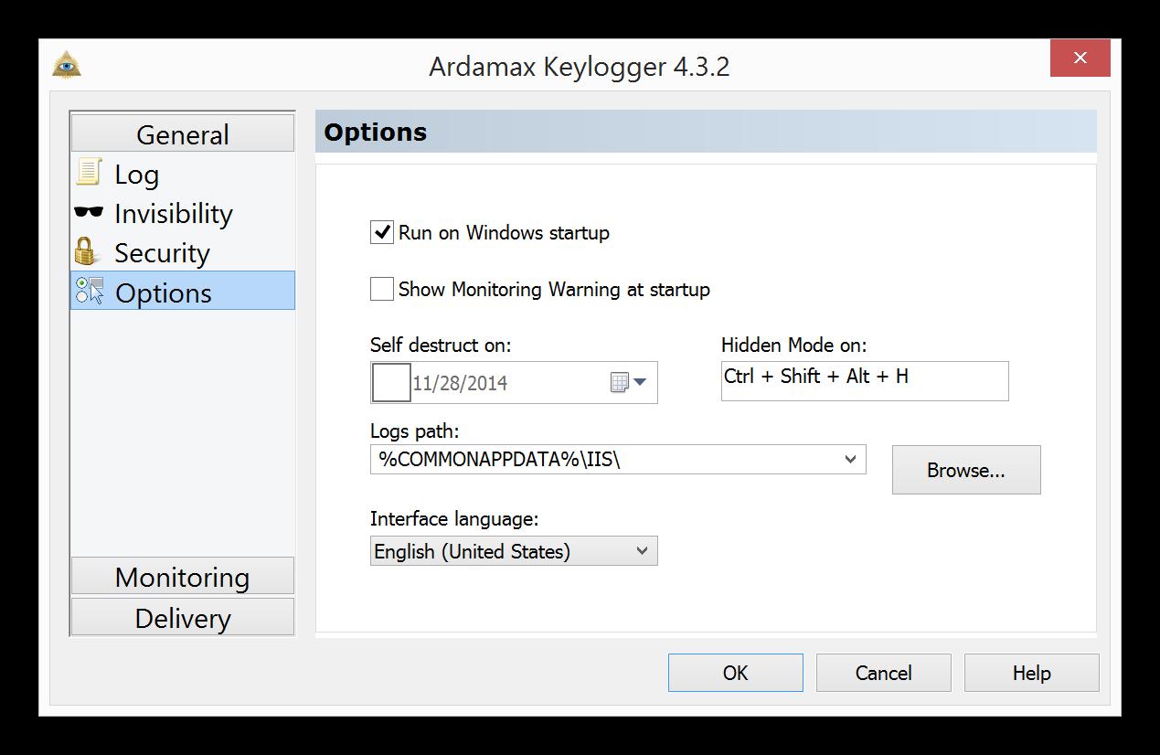 uninstall Ardamax Keylogger