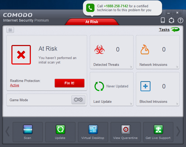 uninstall Comodo Internet Security