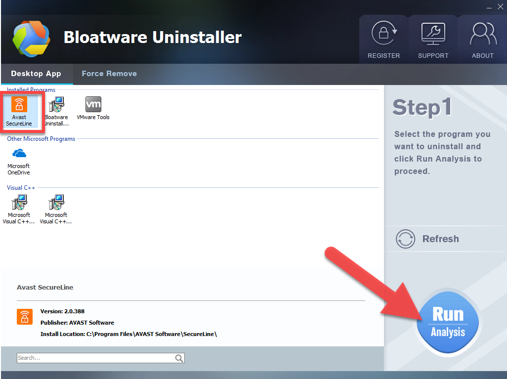 uninstall Avast SecureLine VPN