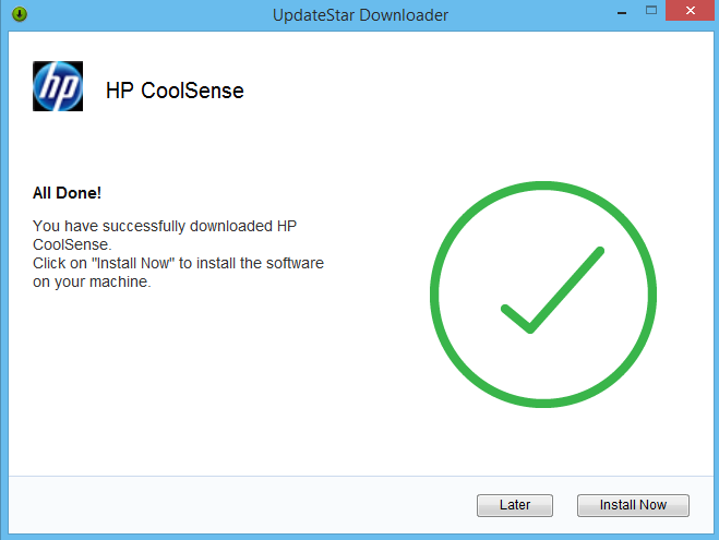 Uninstall HP CoolSense