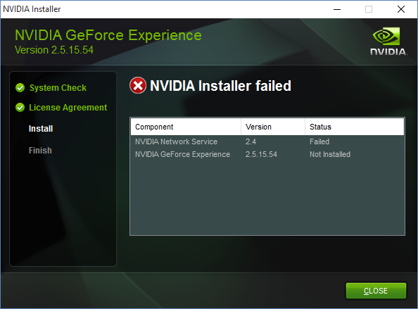 Uninstall NVIDIA Geforce Experience
