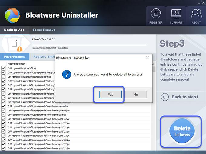 delete LibreOffice leftovers
