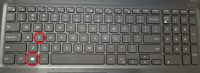 Windows + S key