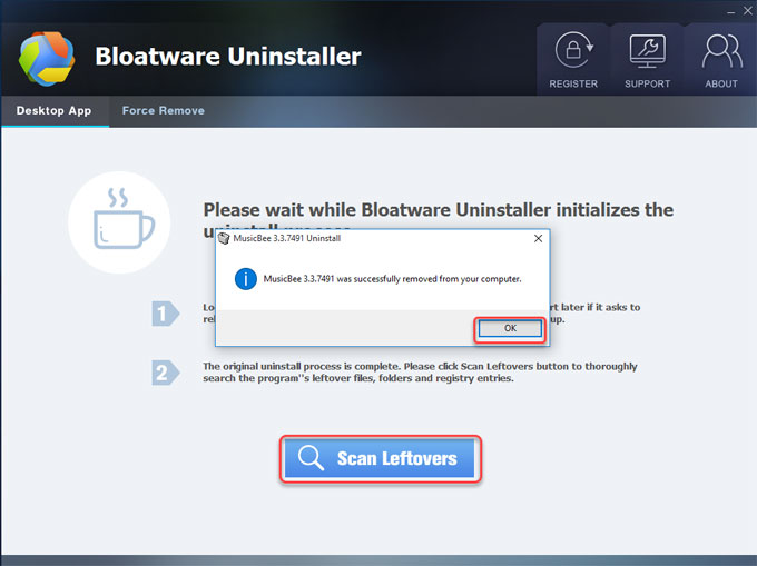 uninstall MusicBee completely