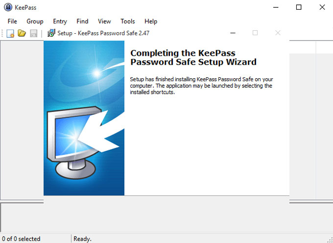 Uninstall KeePass