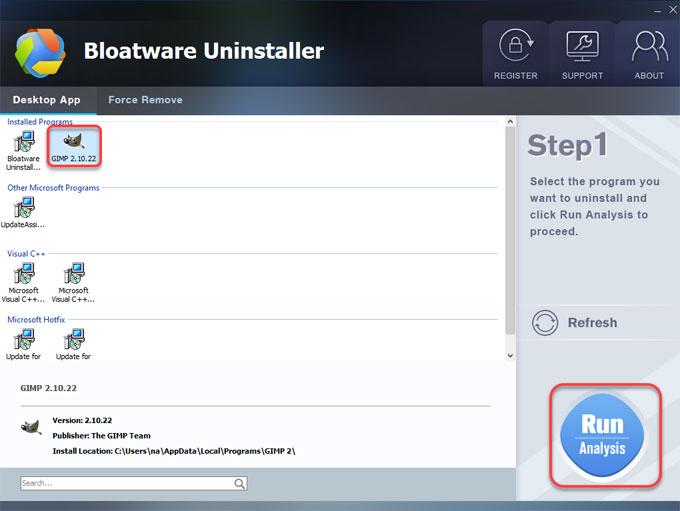 Uinstall GIMP